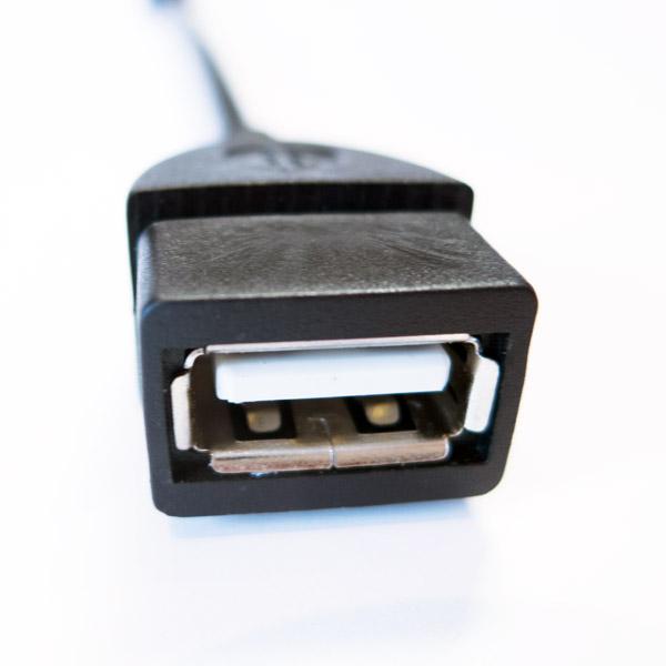 OTG kábel mini USB B - USB A samica