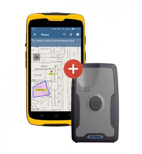 TDC100 + Trimble R1 + GIS aplikácia Mapuj