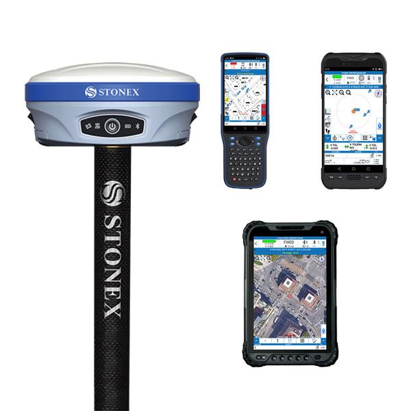 GNSS Stonex S900A s kontrolnou jednotkou - kompletná zostava
